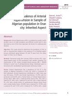 The Prevalence of Arterial