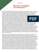 (1875 - 1876) Introducción a La Dialéctica de La Naturaleza
