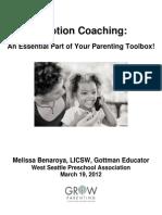 Emotion Coaching Handout for Parents