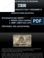 ARQUITECTURA ECLEPTICA PRESENTACION