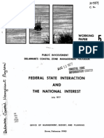 Federal State Interaction and the National Interest