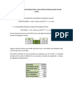 Cálculo Ritmo Optimo Producción y Vida Optima Estimada Según Taylor