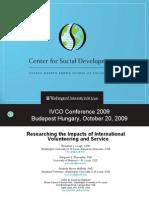 Impact of International Volunteering, Dr. Cliff Allum, Helene Perold and Ben Lough