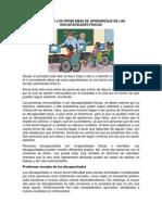 Causas de Los Problemas de Aprendizaje de Las Discapacidades Físicas