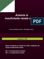 Anemia in insuficienta renala cronica