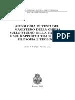 Antologia Testi Magistero