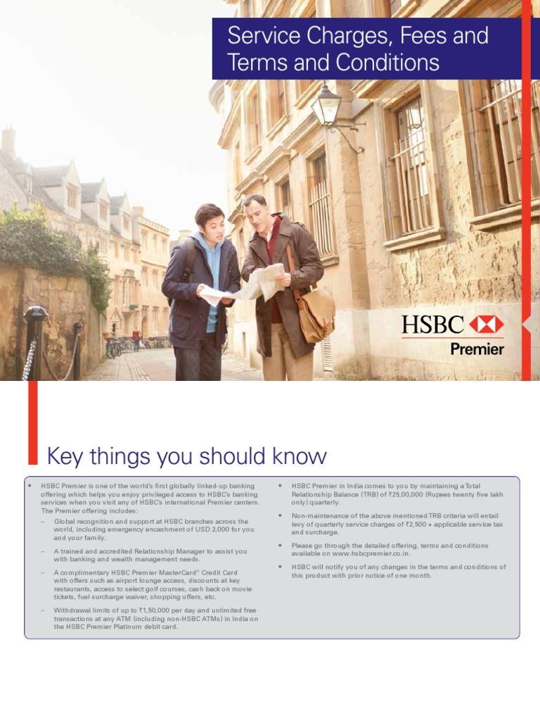 HSBC Premier ServicesGuide   Overdraft   Transaction Account
