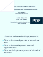 International Law and Genocide Prevention - Prof. Bruce Broomhall