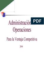 Operation Managment I Upiicsa
