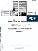 Authorities and Organization