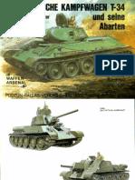 Waffen Arsenal - Band 109 - Der russische Kampfwagen T-34 und seine Abarten