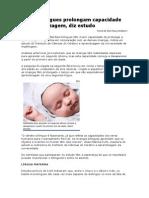 Bebês Bilíngues Prolongam Capacidade de Aprendizagem