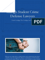 Attorney David Coolidge - Raleigh Student Crime Defense Lawyers