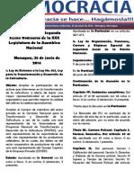 Barómetro Legislativo Diario, Del Miércoles 25 de Junio de 2014