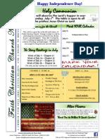 Faith Christian Church Burlington NC July 2014 News