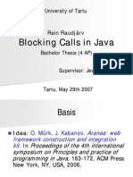 Blocking Calls in Java