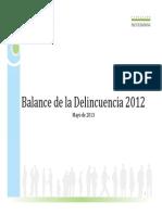 Balance Delincuencia en Chile 2012 Fundacion Paz Ciudadana