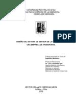 Diseño de Un Sistema de Gestion de Calidad Para Una Empresa de Trasporte
