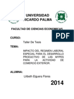 Universidad Ricardo Palma Taller de Tesis