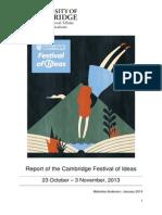 2013 Festival of Ideas Evaluation Compendium