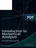 Introduction to Numerical Analysis by Neumaier
