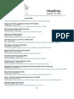 CCA Headlines June 23 - 27, 2014