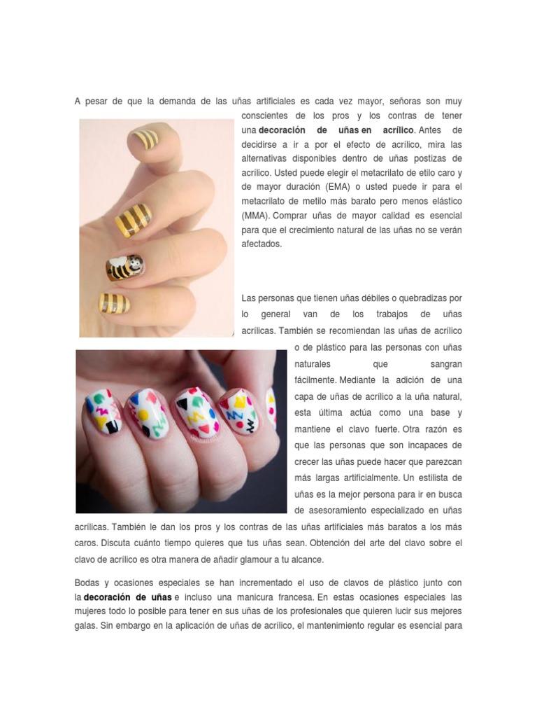 Encantador Uñas De Metacrilato De Metilo Festooning - Ideas de ...