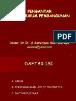 1. Pengantar Aspek Hukum Pembangunan