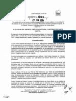 Decreto 095 Junio 27 de 2014