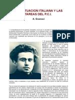 Gramsci. Tesis de Lyon. 1926