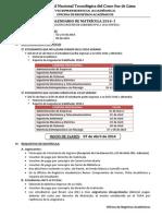 Calendario Matricula 2014-I