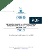 Informe Cndh Año 2013