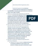 Preguntas de Revisión de Desarrollo de La Gerencia y de La Organización