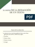 1.- Etapas de La Redaccion
