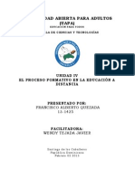 El Proceso Formativo en La Educacion a Distancia