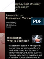 Businessa and the Media Presentation