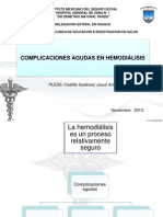 Complicaciones Agudas de La Hemodialisis