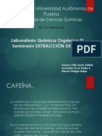 Extraccion CAFEÍNA