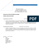 Council Committee Meetings 6/30/2014