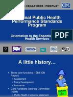 national public health performance standart program