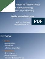Oxide Nanoelectronics
