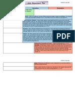 unit assessment plan map