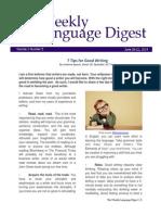 Weekly Language Digest 5th Ed - June 16-22, 2014