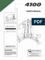 Weider 4100 User manual