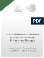 Enseñanza de La Ciencias Biologia