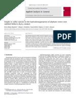 HDO Alphatic Ester_ Insight to Sulfur Species