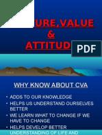 Culture, Values and Attitude