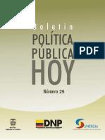 Boletin Politica Publica Hoy 29