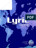 Lyric User Guide v5pt0 2A02203PDF RevA