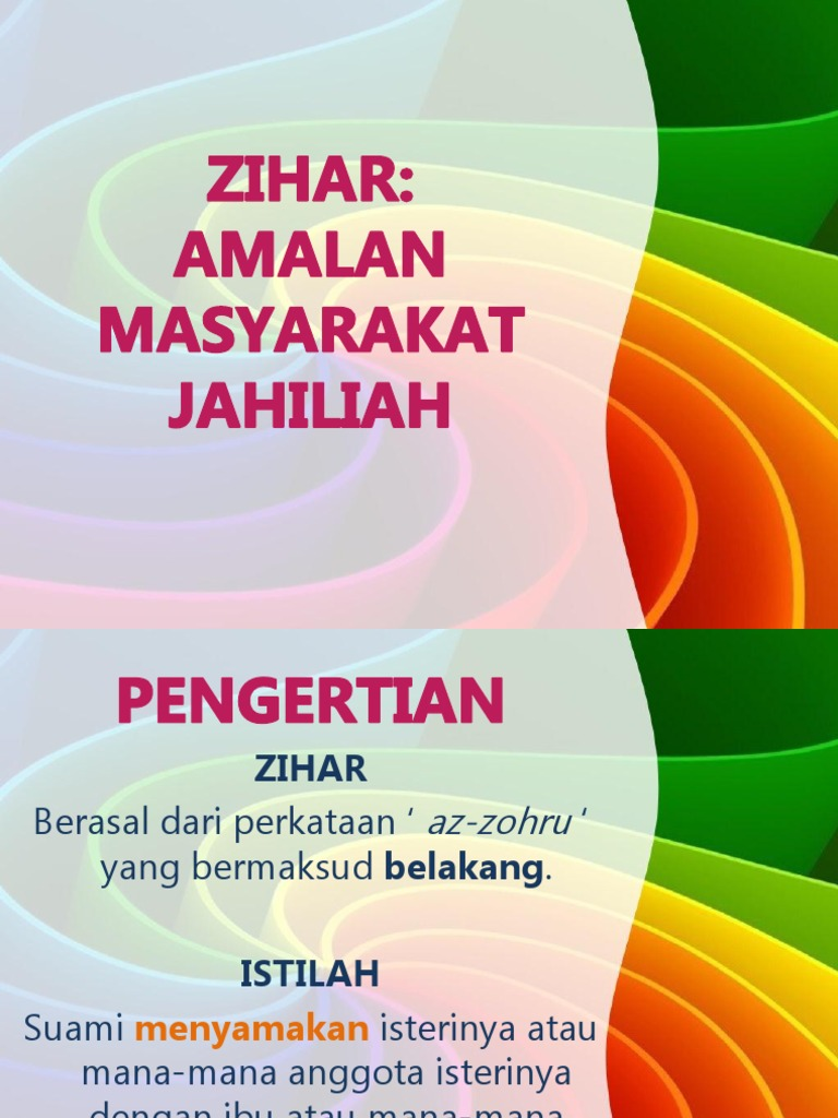 what is zihar in islam